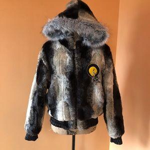 Jackets & Blazers - 🐥Rare lot 29 reversible fur tweety bird jacket M